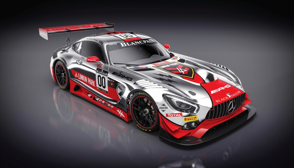 Mercedes-AMG GT3 im Linkin Park Design, 24 h Spa Francorchamps (Bild: Daimler AG)