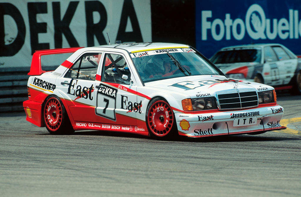 200 Meilen von Nürnberg, 1991. Kurt Thiim (Startnummer 7) Mercedes-Benz 190 E 2.5-16 Evolution II (Bild: Daimler AG)
