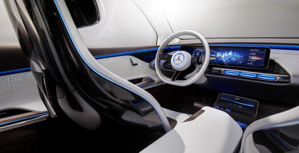 Generation EQ - fahrerorientiertes Cockpit (Bild:Daimler AG)