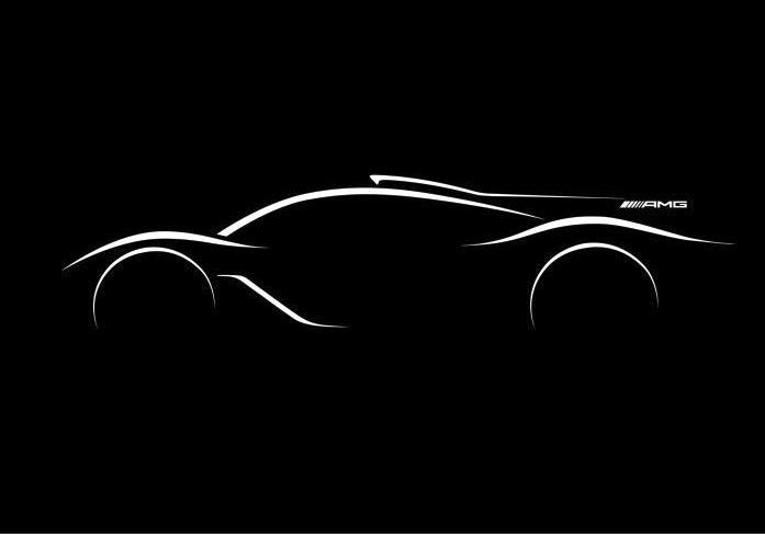 Ist das die Silhouette des AMG-Hypercars 2017? Das erste offizielle Bild macht neugierig... (Bild: Daimler AG)