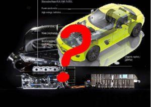 """Was wird der """"Antrieb der Zukunft""""? Hybrid, Elektro oder etwas ganz anderes? (aus Bildern Daimler AG)"""