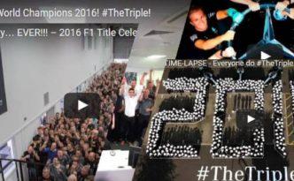 #The Triple: Meisterfeiern bei Mercedes-AMG Petronas 2016 (Collage aus Videos Daimler AG)