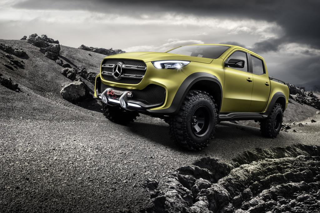Mercedes-Benz Concept X-CLASS powerful adventurer – Lemonaxmetallic (Bild: Daimler AG)
