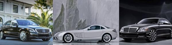 Mercedes-Benz S600, Maybach S57 und SLR McLaren (aus Bildern Daimler AG)